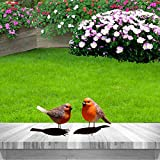 Juego de 2 adornos de Robin, Robin Garden Ornamento Decoración, Robin Robin Redbreast Regalos para Mujeres Jardín Patio Césped Decoraciones