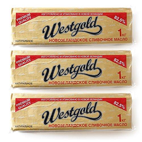 ニュージランド産 グラスフェットバター無塩1kg 冷凍【3個セット】