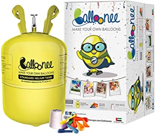 Balloonee Standard Party Kit with Helium Gas Tank. 30 Balloons and Ribbons