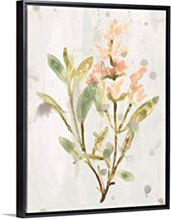 Antique Earthtone Herbs IV Black Float Frame Canvas Art, 38