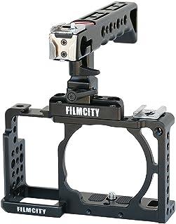 Filmcity Video Camera Cage Top Handle for Sony Alpha Mirror Less A6000 A6300 ILCE-6000 6300 NEX-7 Camera | Tripod Mount Ca...