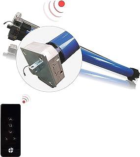 H - Motor de toldo inalámbrico (50 Nm, con adaptador para onda redonda de 78 mm, incluye transmisor de radio de 5 canales, 1 juego)