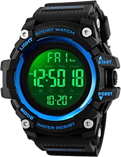Mens Sports Digital Watch Outdoors Military Watches Running Wrist Watch with 2 Time Display/Alarm/Countdown for Mens Father's Gift
