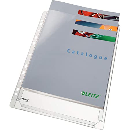 LEITZ Buste perforate a soffietto - PVC morbido antiriflesso - f.to 22 x 30 cm - 47561003