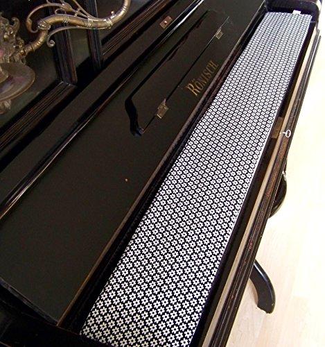 Tastenläufer für Klavier, Tastatur Retro Flower