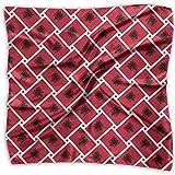 Uridy Pañuelo de raso cuadrado Albania Tejiendo el modo de la bandera nacional Seda como bandanas ligeras Pañuelo para la cabeza Chal para el cuello Pañuelo en la cabeza
