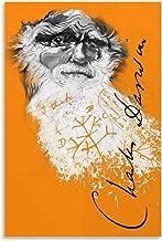 Charles Robert Darwin Design Britse bioloog beroemdheid 1 canvas kunst poster en muurkunst foto afdrukken moderne familie ...
