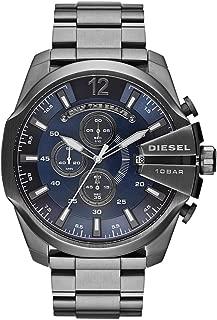 Men's Mega Chief Quartz Stainless Steel Chronograph Watch, Color: Grey (Model: DZ4329)