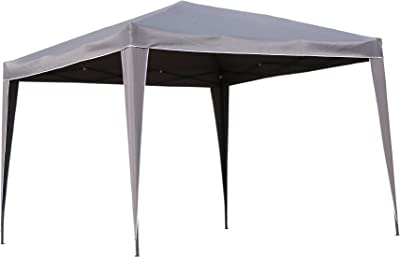 Angel Living Plegable Pop-Up Gazebo 3x3m Plegable Tienda De CampañA JardíN Patio Exterior Marquesina Toldo con Bolsa De Transporte (Gris): Amazon.es: Jardín