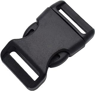 Buckles & Hooks 5pcs 1 Plastic Black Curve Slider Tri-glide Adjust Tri-ring Buckle Dog Collar Harness Backpack Strap Webbing Bag Parts To Have A Unique National Style