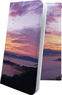 スマートフォンケース・Xperia J1 Compact D5788・互換 スマートフォンケース・手帳型 おしゃれ 雲 山 夕焼け 夕日 エクスペリア コンパクト 風景 XperiaJ1 きれい 綺麗ケース