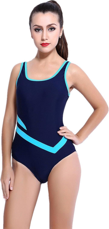 Animas Women's Slimming Striped One Piece Swimsuit Swimwear Bathingsuit