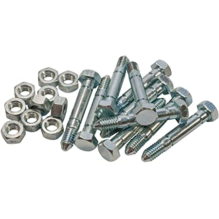 """Lot of 30 Shear Pins /& Nuts 2-1//8/"""" Pin with 5//16/"""" for Ariens Fits John Deere Kee"""