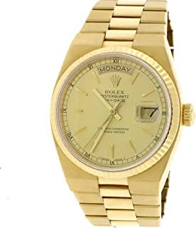 Rolex Day-Date Oysterquartz 18K YellowGold Factory Champagne Dial 36mm