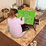 Puzzle Table Wooden Jigsaw Puzzle Boards for Adults Portable Large with Tilting Board,Folding Puzzle Board with Non-Slip Surface, Up to 1000 Pieces