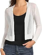 GRACE KARIN Womens Sheer Crop Bolero Shrug Open Front Knit Cardigan Sweater