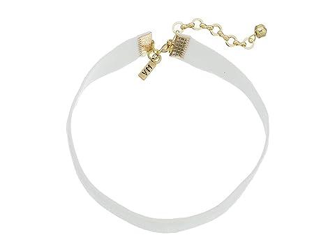 """1/2"""" Velvet Choker Necklace, White"""