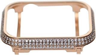 iRepair Sparkling Crystal Diamond Case Cover Bezel Compatible with Apple Watch Series 4 (Rose Gold, 44mm)