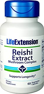 Life Extension Reishi Extract Mushroom Complex, 60 Vegetarian Capsules