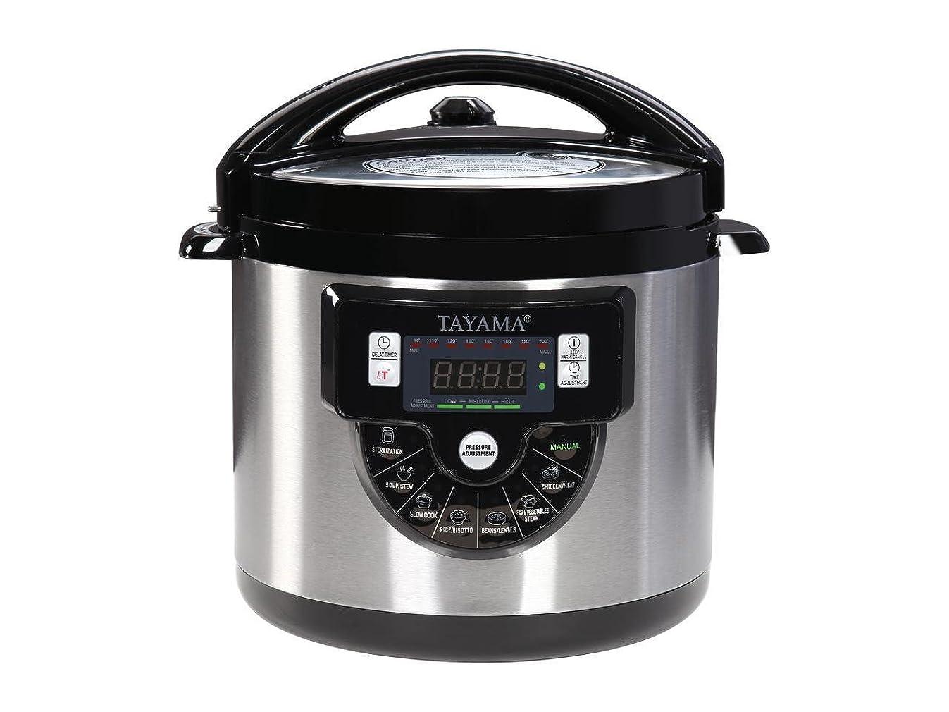 Tayama TMC-60XL 6 Quart 8 in 1 Multi Function Pressure Cooker, 6 Qt, Black