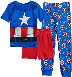 Captain America Avengers Boys' 3 Piece Pajamas Set