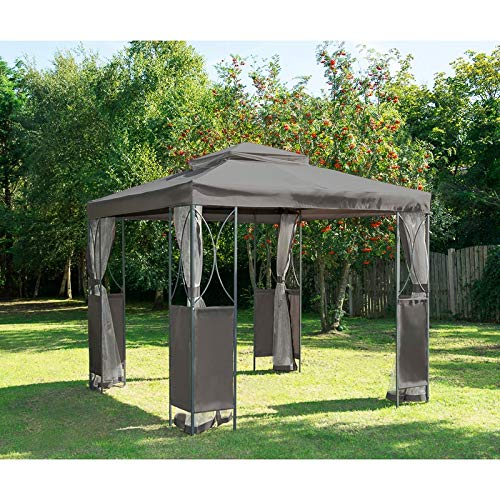 Original Luxury Steel Framed Gazebo with Mosquito/Fly Curtains