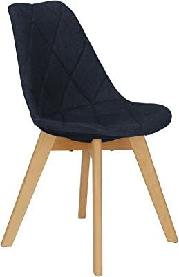 Novogratz Brisbane Dining Chair, Navy Linen