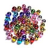 Jingle Bells for Crafts,iKammo 12mm Small Bells DIY Bells Christmas Crafts for DIY Bracelet Anklets Necklace Knitting/Jewelry Making(Colorful,100pcs)