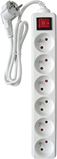 Zenitech16A Extension Lead with Switch, White