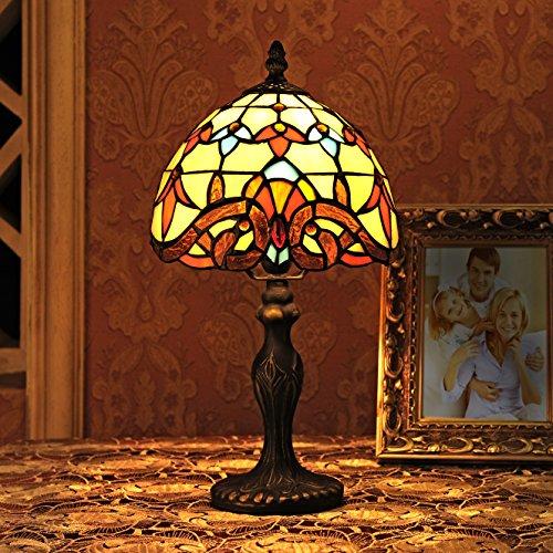 Gweat 8-Inch Barock europäische Tiffany Tischlampe Schlafzimmerlampe Nachttischlampe