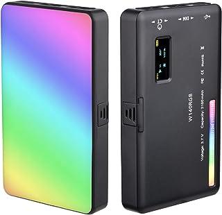 Andoer W140 RGB LED-videolicht oplaadbare fotografie vullicht CRI95 + 2500K-9000K dimbaar 20 lichteffecten met LCD-display...