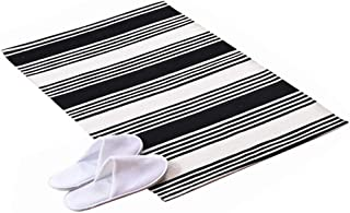 Woven Cotton 24 x 35 Inches Area Rug Striped Farmhouse Rug Floor Mats for Kitchen Laundry Doorway Bedroom