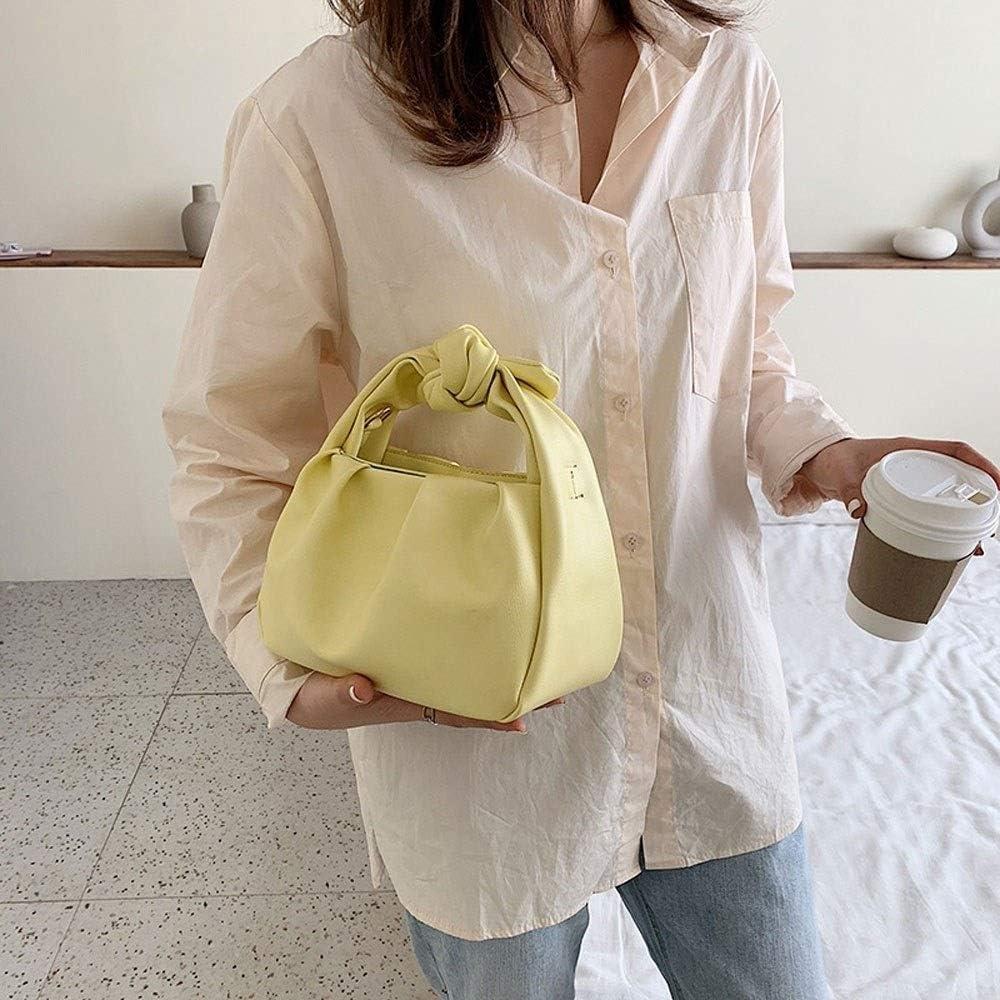 ISADHP Sac à Main de Femmes poignée supérieure Sac à bandoulière Satchel de Bourse de Sac de Travail avec Le Portefeuille Assorti (Color : Purple) Yellow