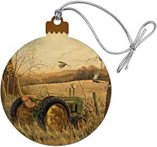 GRAPHICS & MORE Tractor on The Farm Wood Christmas Tree Holiday Ornament