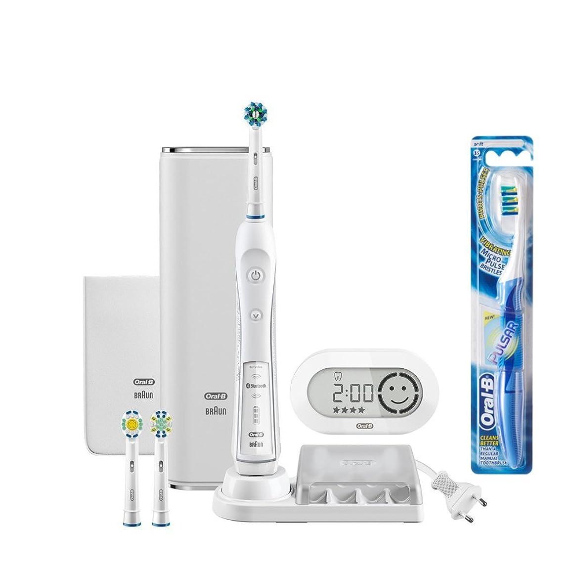 ワーカー疎外するに慣れブラウン オーラルB 電動歯ブラシ プラチナホワイト 7000 D365356WHP スマホアプリ連動 ホワイト
