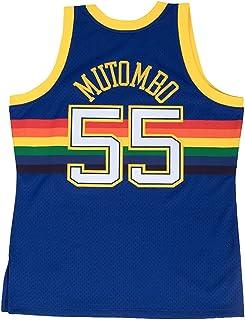 in stock 3df14 11543 Mitchell   Ness Dikembe Mutombo 1991-92 Denver Nuggets Blue HWC Swingman  Jersey