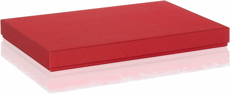 Rössler Papier - - Boxline-Kartonage Rot 225x325x30 mm, pass. f. A4 - Liefermenge  4 Stück B07CX78TDQ | Niedriger Preis und gute Qualität