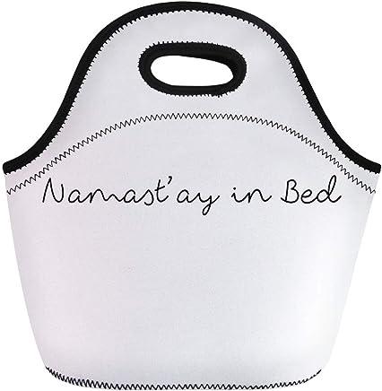 e79ce74fdf Ablitt Lunch Bags Namaste Namast Ay in Namastay Yoga Funny Fun neoprene  lunch bag lunchbox tote