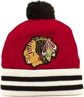 Mitchell & Ness Chicago Blackhawks Vintage Jersey Stripe Cuffed Knit Hat