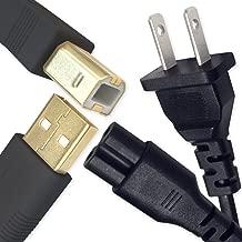 Ipax USB Printer Cable and Wall Power Cord Compatible with Canon Pixma MG7520 MG7120 MG6320 MG5520 MG5420 MG5320 MG2920 MX922 MX892 MX472 Canon Maxify