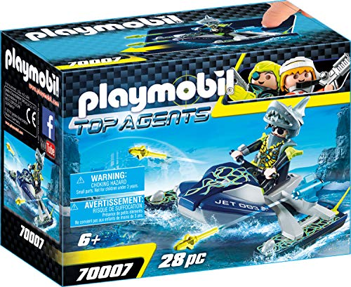 Playmobil 70007 Top Agents Team S.H.A.R.K. Rocket Rafter, kleurrijk