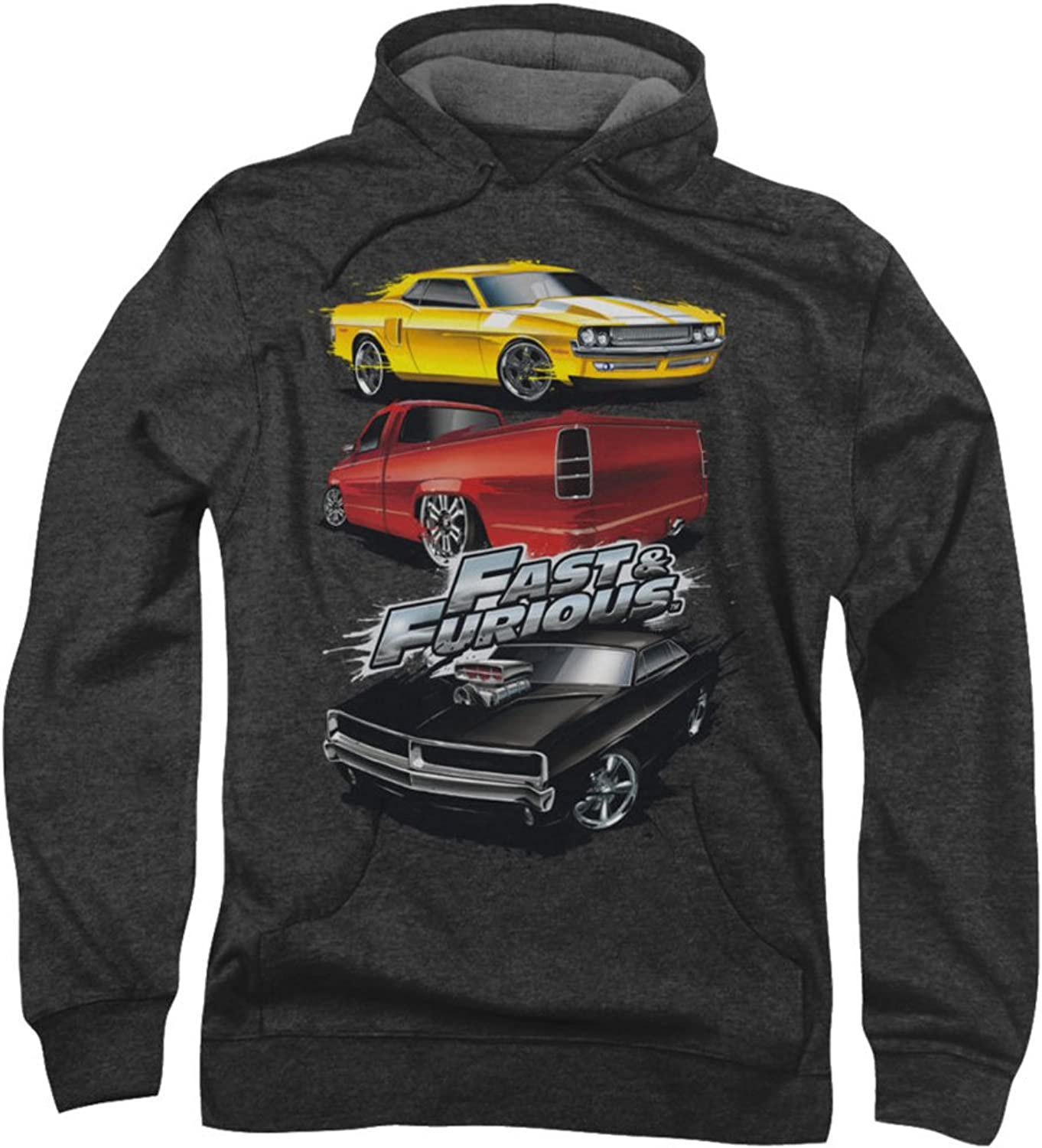 Fast And The Furious - Mnner-Muskel-Auto Splatter Hoodie