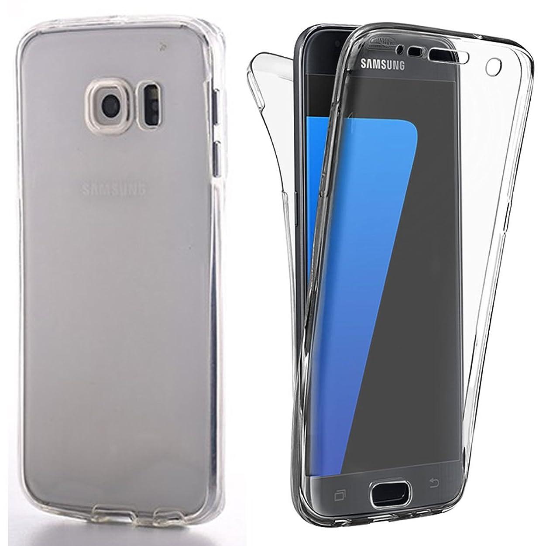 YATATECH Samsung Galaxy S6 Edgeケースカバー 360度全面保護 耐震 衝撃吸収バンパー アンチスクラッチ 防塵 防指紋 超薄い 透明ソフトTPU シリコンケースカバー 軽量ギャラクシー S6 エッジ専用ケースカバー(透明クリア)