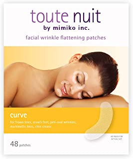 Toute Nuit Facial Wrinkle Flattening Patches, Curve - Reducing Fine Lines Around Eyes and Mouth Anti-Wrinkle Patches, Face Tape - 48 Patches