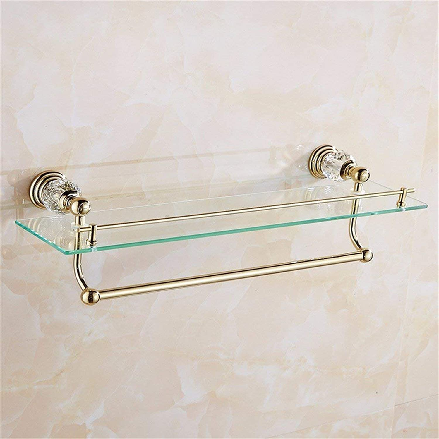 Christmas in Stainless Steel of European Style, Base in Crystal of gold, All Baths Pendentif, Single and Double Door Bar Toothbrush,Rack 1