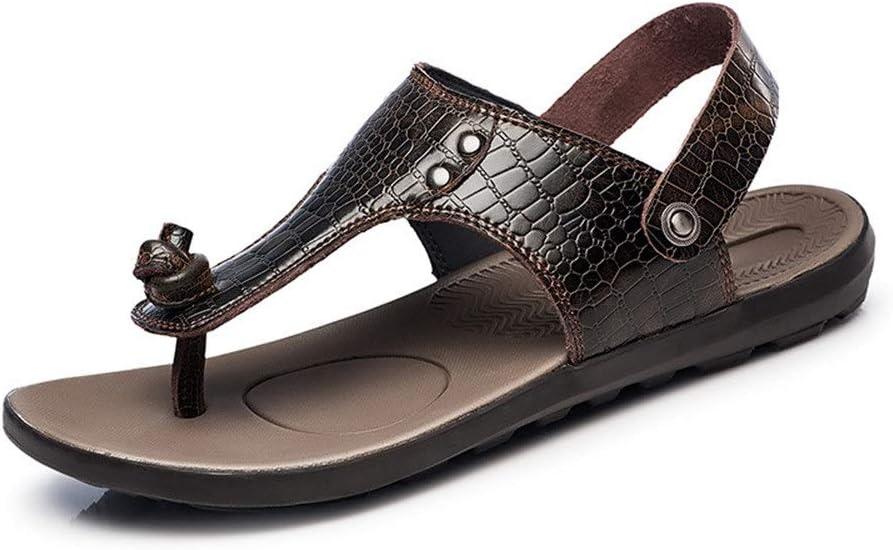Teerwere Men's Shower Sandals Antislip Sports Sandals Outdoor Flip-Flops Beach Water Sandal Hiking Sandals Traveling Sandals 2 Colors Comfortable Shower Beach Shoe (Color : Wine red, Size : 45)