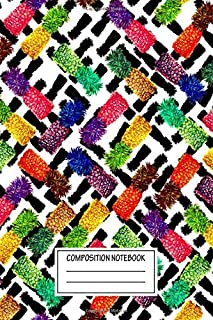 Composition Notebook: Pop Art Juice Mixed Media Wide Ruled Note Book, Diary, Planner, Journal for Writing
