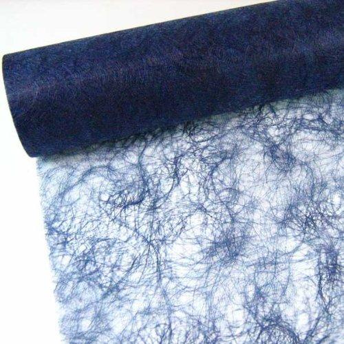 25m Sizoflor ® Original Tischband Tischläufer 20cm, Farbe:dunkelblau