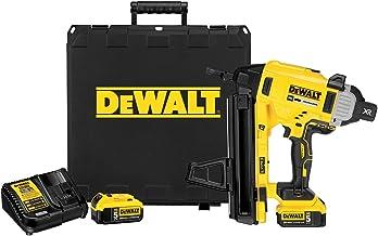 DeWalt DCN890P2 20V MAX XR Cordless Concrete Electric Nailer Kit with Kit Box