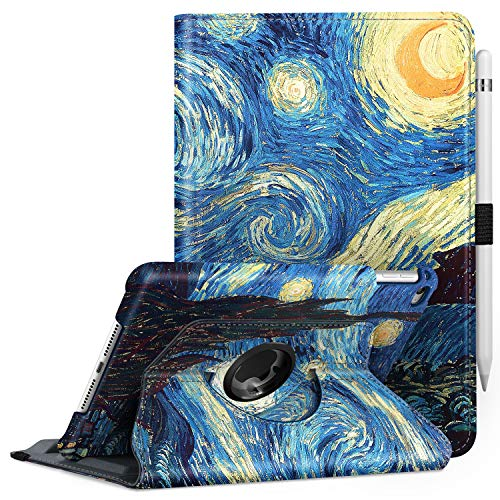 Fintie Rotating Case for iPad Mini 4-360 Degree Rotating Stand Case with Smart Cover Auto Sleep/Wake Feature for iPad Mini 4 (2015 Release), Starry Night